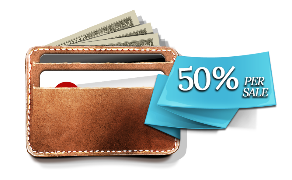 Affiliate program - 50% commissions