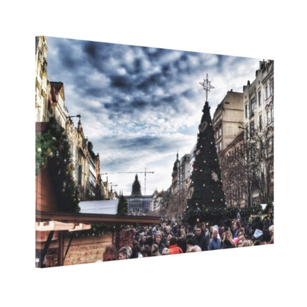 Souvenirs from Prague Christmas tree in Wenceslas Square photo 2