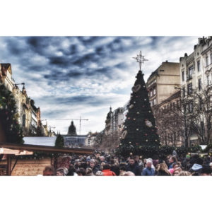 Souvenirs from Prague Christmas tree in Wenceslas Square photo 1